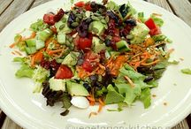 Vegetarian Salad Recipes / A Salad is no side dish! Make the salad your main meal every so often! Make it huge, crunchy and flavorful...mmm