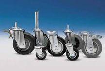 Ruote Industriali e per l'Arredamento / Vendita e commercio di supporti e ruote per l'industria e l'arredamento, per applicazioni speciali, in qualsiasi materiale e rivestimento.