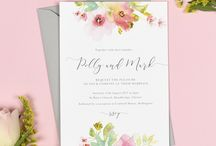 Design suite // Juliette wedding collection / Juliette watercolour floral wedding stationery collection by Project Pretty