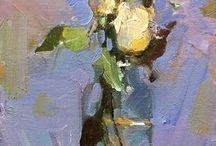Bloemschilderijen / Schilderen in olieverf, acryl of aquarel