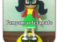 Faceb. : Pampam artesanato / Lembrancinhas, presentes, decoração, bolos...  Tudo para sua festa