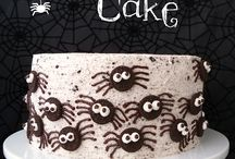 Cakes and halloween food