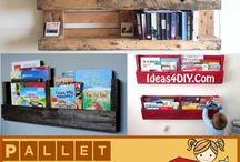 DIY Pallet Bookshelf Plans / Collection of Interesting DIY Pallet Bookshelf Ideas and Tutorials! #DIYPalletBookshelf #PalletBooshelf