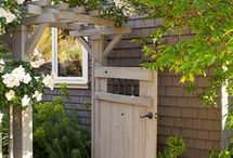 Entrance garden & backyard / Ideas on entrance with garden and the quiet hidden backyard