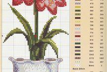 Keresztszemes minták (virágok)