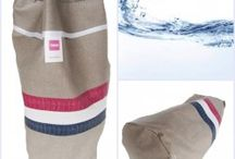 zwem, gym of sport tas van tafelzeil, rond of plat model / ruime tassen