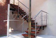 escaleras madera y hierro