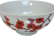 Saki Collection / Our Saki collection features plates, bowls, cups and saucers with handpainted saki.