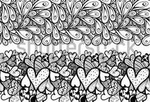 ilustrações, faixas decorativas