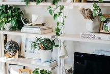 Office Inspo / home office | home office ideas | green office | beautiful offices | beautiful office space | office deco ideas | office decor | plants in office