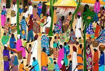 Paintings - African