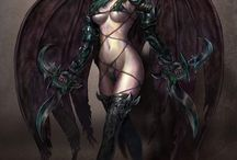 Female Assasins / Female, assasins, rogues, hunters, characters, fantasy, graphics, art