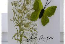 Cards - flowers butterflies / Flowers Butterflies