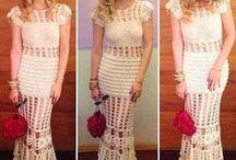 vestido longo de vesta crocher