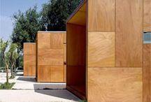 wooden fasade