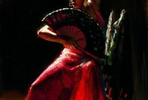 Flamenco / Flamenco Dancers and Fashion ~ I RECOMMEND that you CLICK on any PHOTO and ENLARGE the VIEW. / by Frank L. Barrios