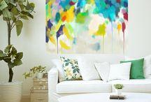 Pinturas abstractas / Retratos fluor