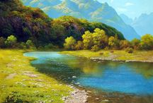 Пейзажная живопись / живопись - природа, пейзажи