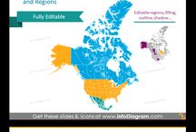 World Maps ppt graphics / Find inspiration how to visualise economic data for various countries and regions in the world. You can get here map shapes of countries, continents and regions.