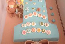 1 yaş doğumgünü pasta