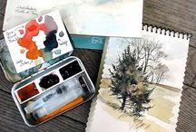 Watercolours / Watercolour love.