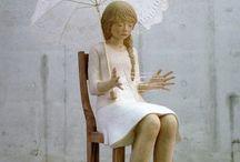 灰原愛の彫刻