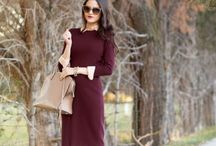 Wine color outfits