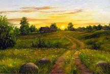 Пейзаж классик / Картины Пейзаж, шедевры и произведения художников
