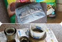 Cementowe doniczki