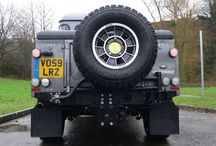 Land Rover Defender spare wheel mountings / Land Rover Defender Rear Bumper spare wheel mountings