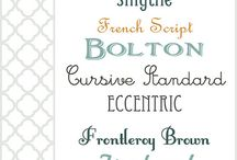 Fonts / by Jennifer Pritchard