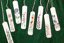 Embroidered bookmarks