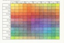 Colour chart ideas for drawing/painting