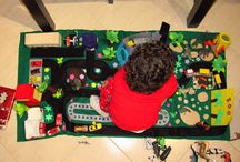 Play Mat: Cidade 3D em Feltro / Made by me for my 2 years boy
