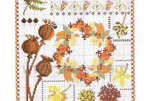 roślinki przeróżne - cross stitch various plants / zielnik, kwiatki