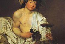 Művészettörténet (Caravaggio: Bacchus) / Ezt a táblát a Művészetek a mediterrán Európában II. tárgyamhoz elkészítendő házi dolgozatom mellékleteként hoztam létre.