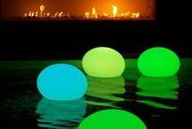 balões de neon