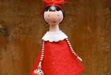 wooden clothes peg dolls