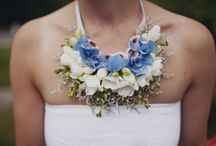 Floral Adornment / Fresh flowers worn as accessories