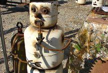 Gas Bottle Statues