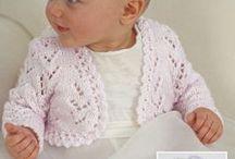 Knitting baby bolero
