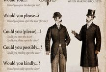 Etiquette / Ladies and gentlemen, we need to bring back etiquette and good manners!