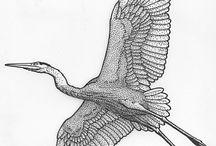 stork tattoo