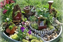 fairy garden ideas / going to get some ideas and start saving little things then when weather warms up Im going to get my girls both making fairy gardens