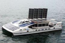 Солнечная лодка, катамаран.