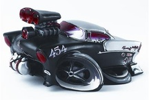 Sculptures / These incredibly detailed 3-D sculptures are just the touch of hot rod your desk or shelf needs!