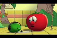 Veggie Tales / I grew up with Veggie Tales.  And I still watch it.  Yes, I am an adult.  And yes, I do watch it voluntarily.  It's fun!