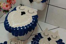vestir baño crochet