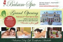 Grand Opening Event / Balsam Spa cordially invites you to our Grand Opening on Wednesday, February 5th from 3-8pm! A ribbon cutting celebration will take place at 4pm with the Mayor and VIP guests of Newmarket. Don't forget to save the date for a wonderful afternoon of fun and free gifts.