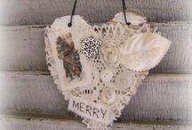 Christmas ornaments house